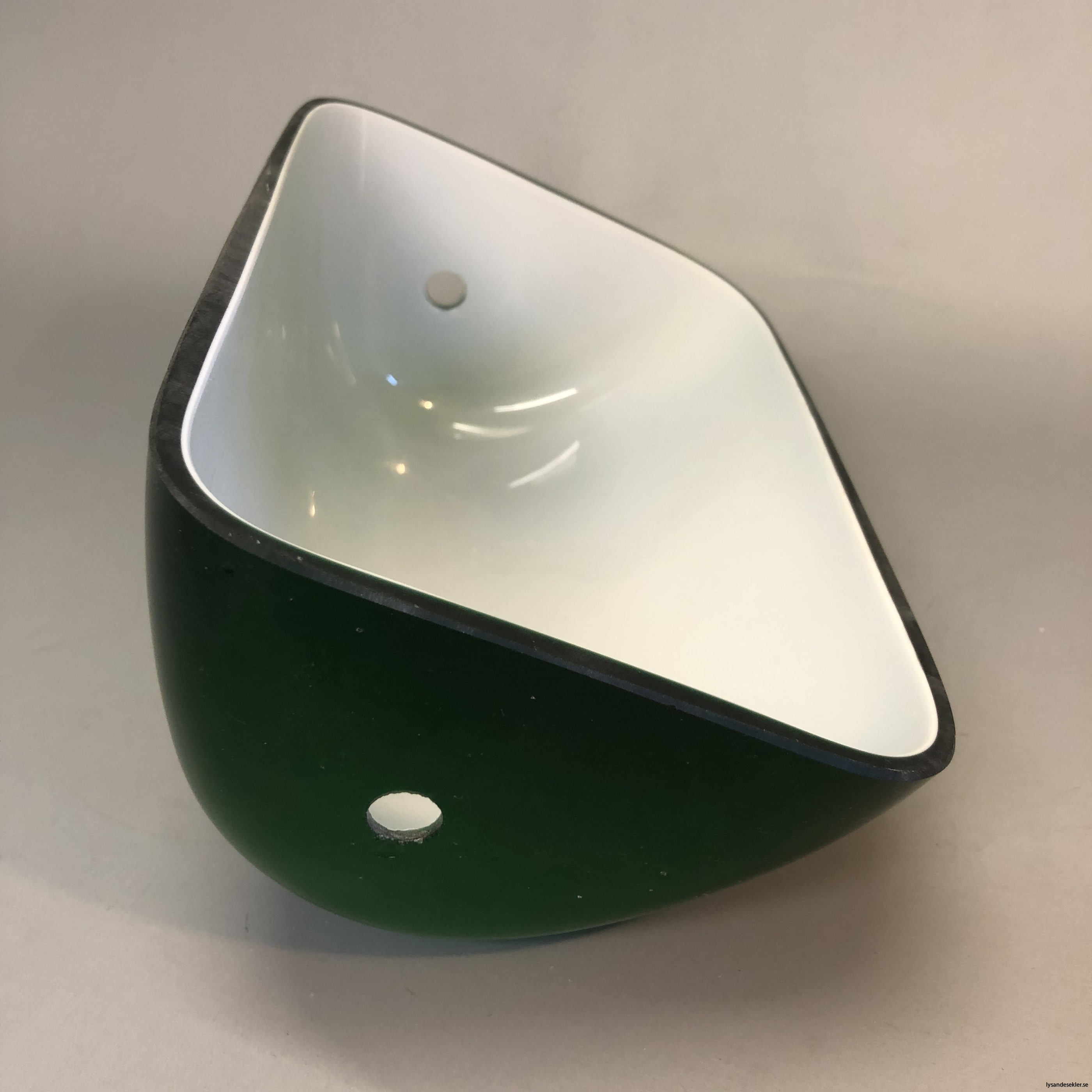 reservglas bankirlampa bibliotekslampa amerikalampa grönt lampglas gult reservglas extraglas10