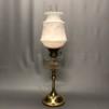 85 mm - Kupa 14''' opalvit glansig medaljongmönster (Kupa till fotogenlampa)