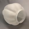 85 mm - Kupa 14''' tulpan matt vågad kant (Kupa till fotogenlampa)