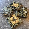 4 st glasunderlägg Jugend - svarta - Svarta jugendmönstrade glasunderlägg - 4 olika i ett set
