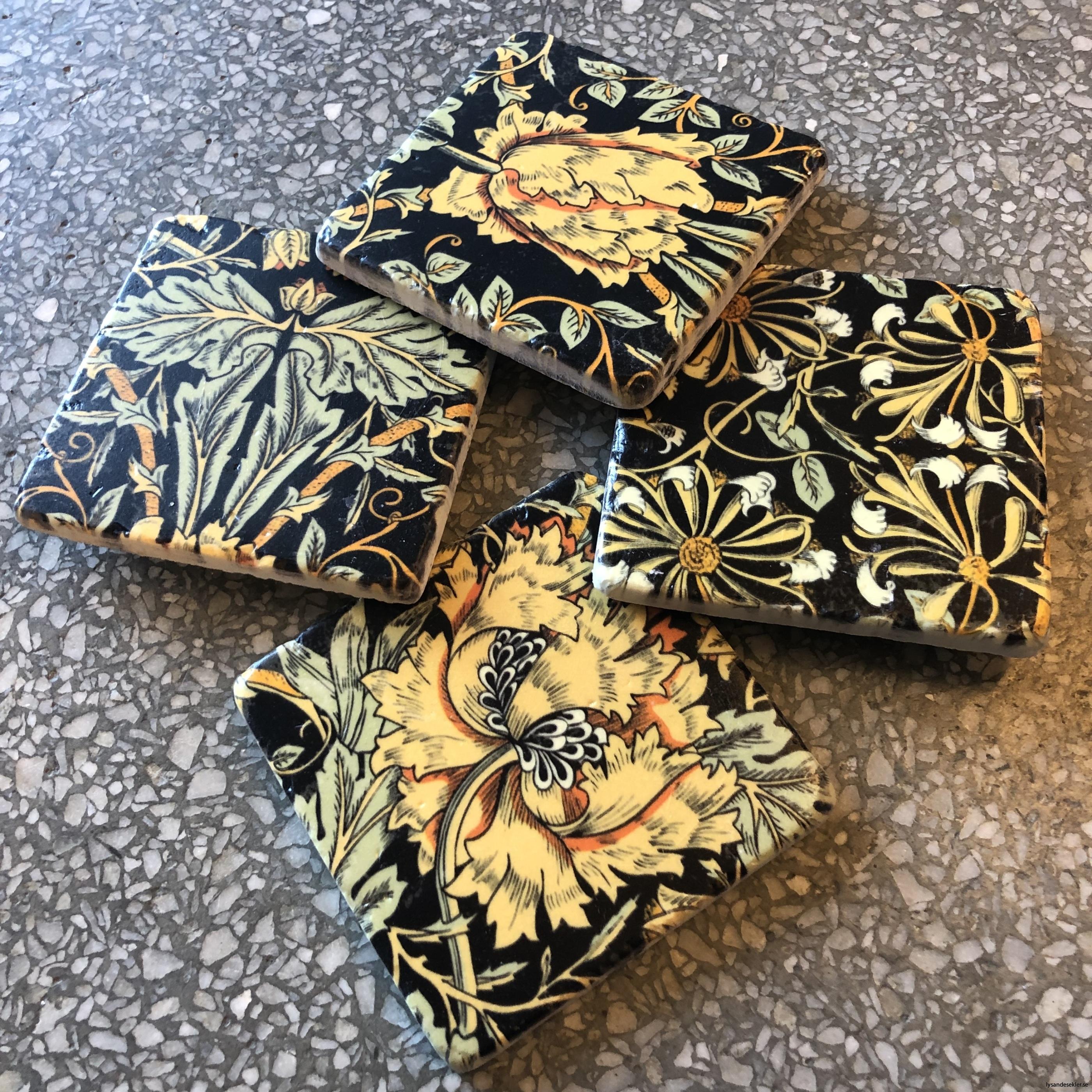 glasunderlägg jugend blommor art nouveau underlägg glas7