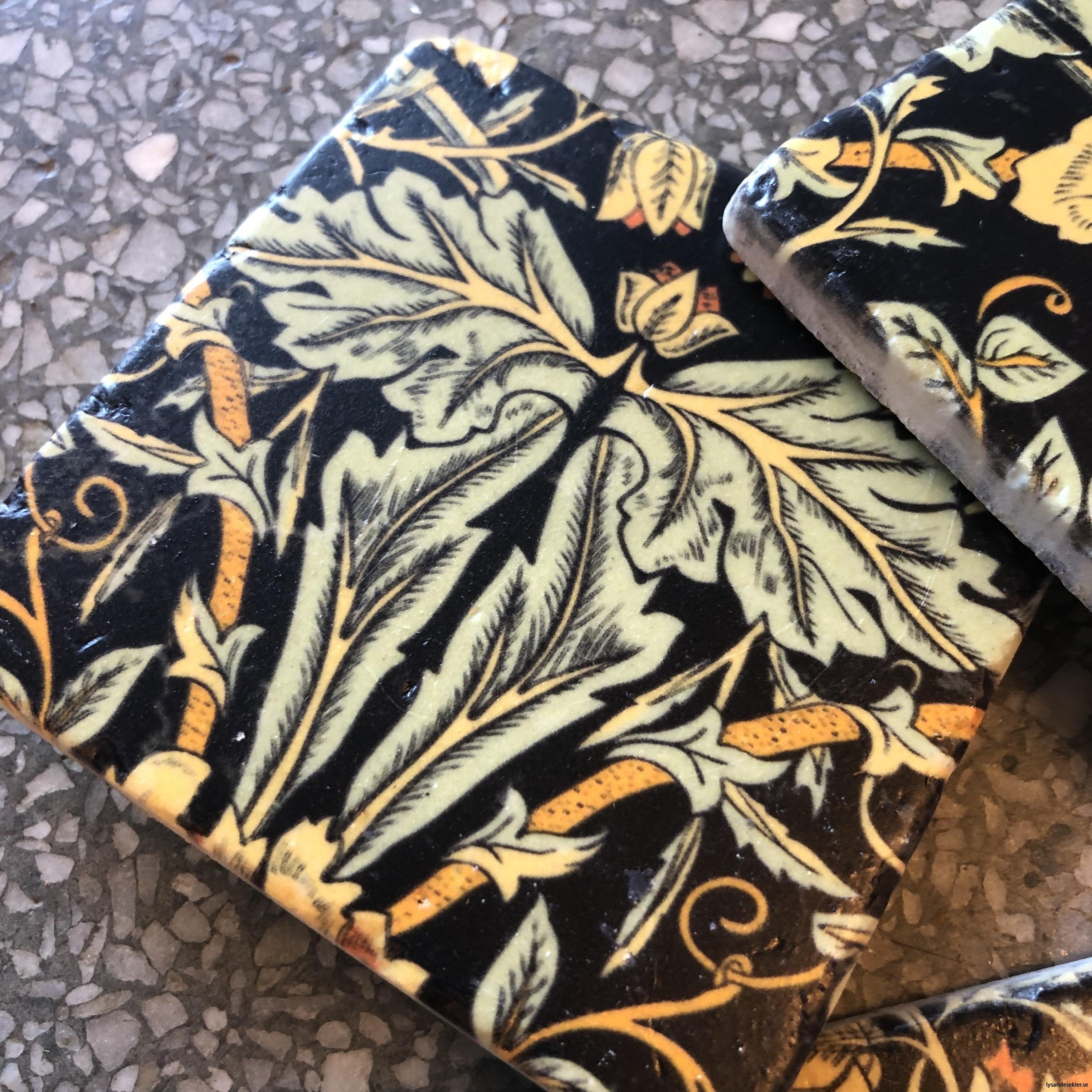glasunderlägg jugend blommor art nouveau underlägg glas11