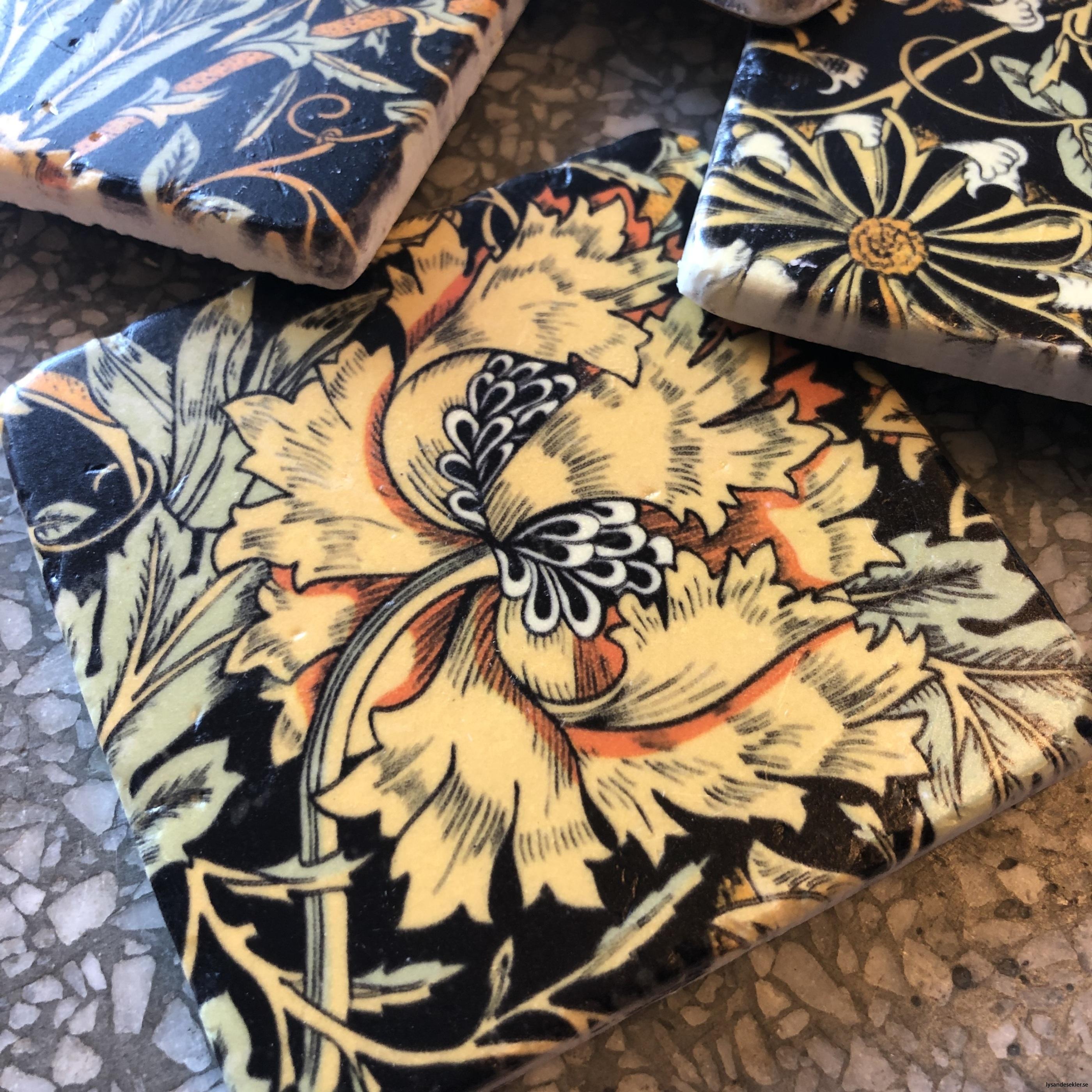 glasunderlägg jugend blommor art nouveau underlägg glas8