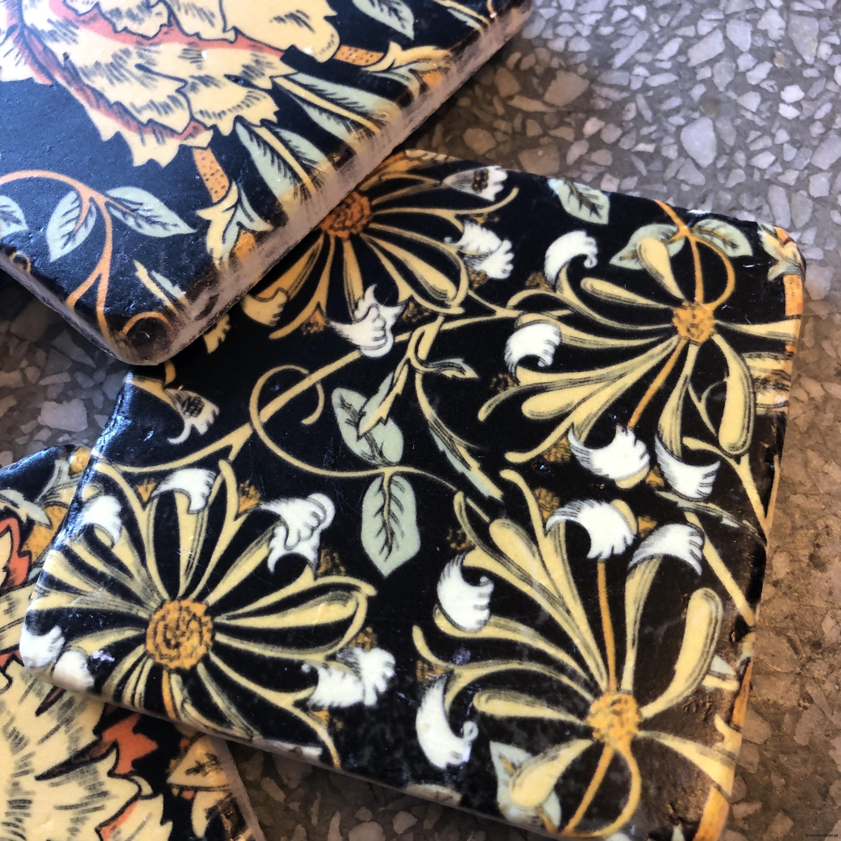 glasunderlägg jugend blommor art nouveau underlägg glas9