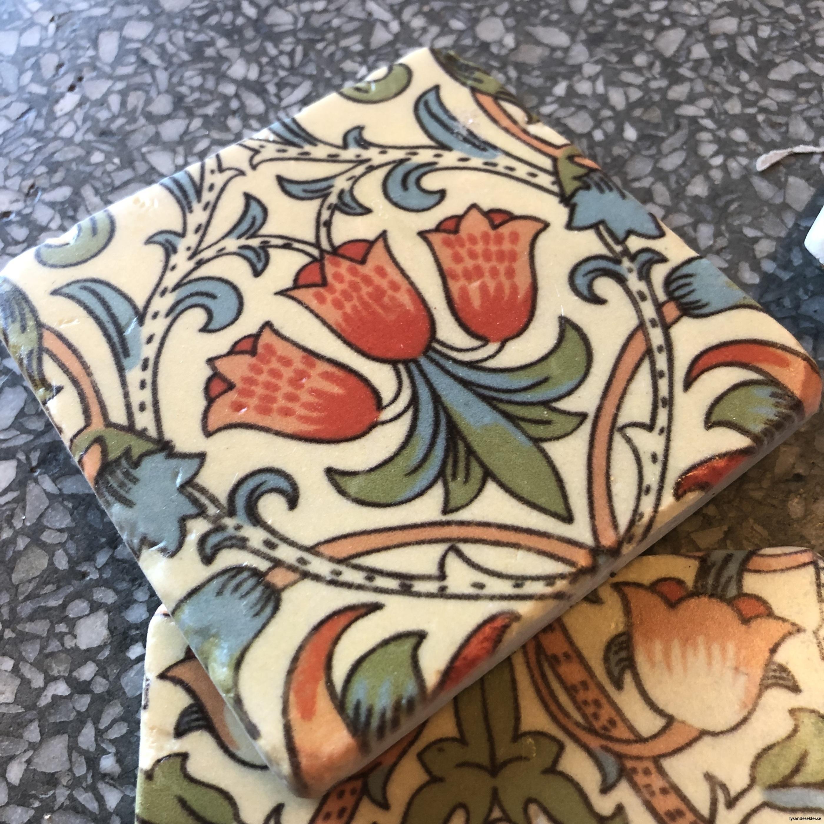 glasunderlägg jugend blommor art nouveau underlägg glas2