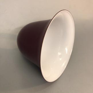 Vinröd hålskärm antik - Vinröd/Vit insida - antik utsvängd skärm med hål