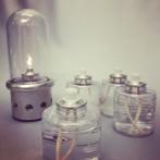 Engångsbehållare med lampolja och veke (50 timmars brinntid)