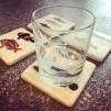 4 st glasunderlägg Fiskar