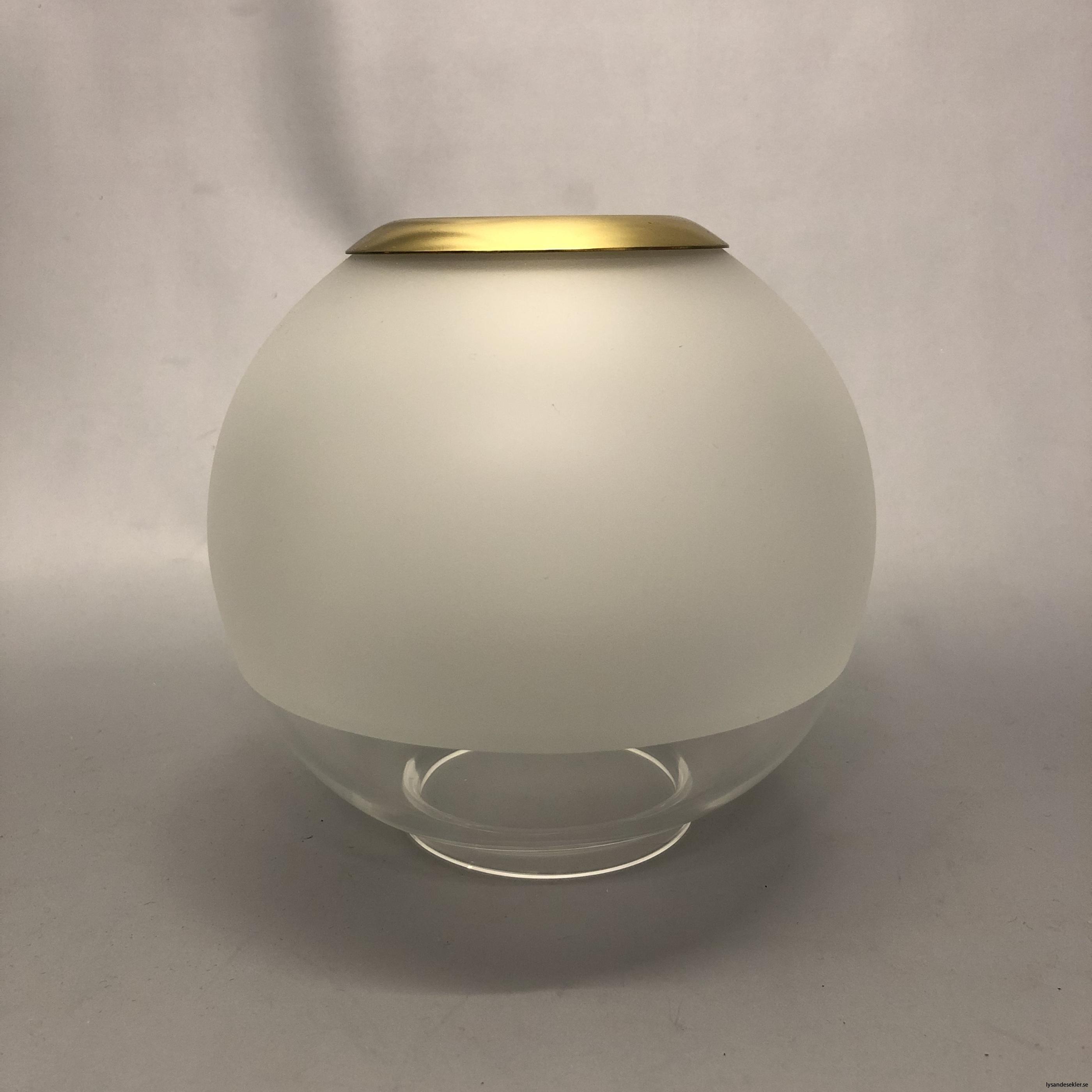 135 mm klotkupa med mässinstopp halvfrostad fotogenlampskupa4