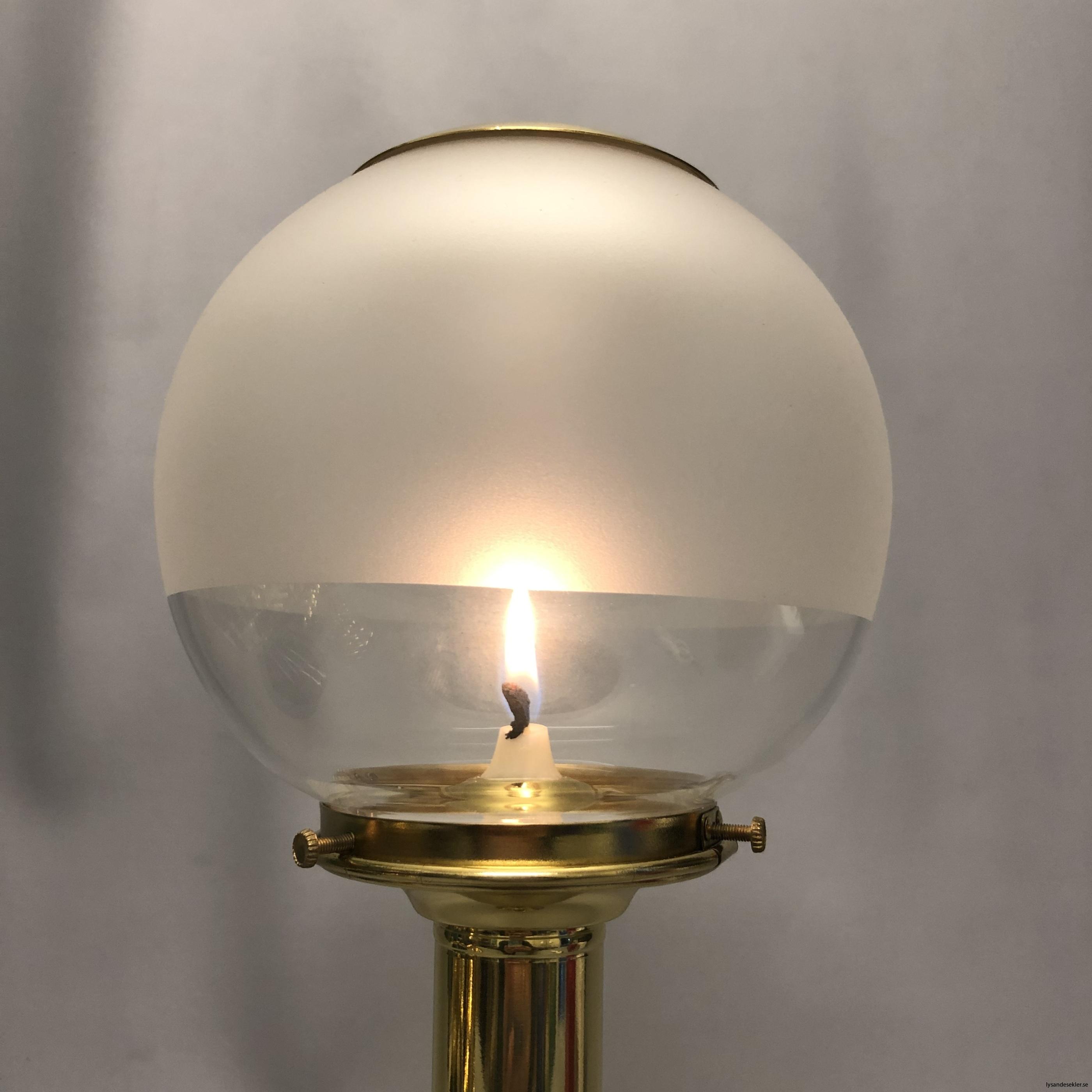135 mm klotkupa med mässinstopp halvfrostad fotogenlampskupa3