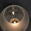Ljusstake med klotkupa i mässing