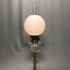 85 mm - Kupa 14''' klot opalvit glansig (Kupa till fotogenlampa)