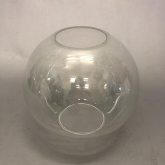 65 mm - Kupa 135 mm dansk klot transparent (Kupa till fotogenlampa) - Kupa liten 10'''(65 mm) glasklar