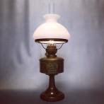Fotogenlampa i mässing med skärm 14''' (äldre)