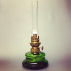 Bordslampa 8''' grön (äldre)