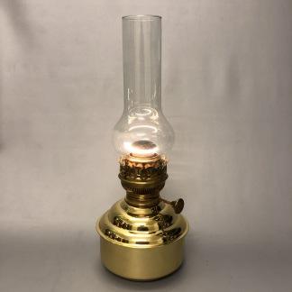 Holländsk mässingsfotogenlampa 20''' - 20''' fotogenlampa helt i mässing