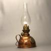 Bordslampa Nattlampan 6''' i koppar (äldre) - Begagnad kopparfotogenlampa Nattlampan