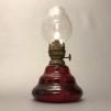 Liten fästemansgåva 3''' i rött glas (äldre) - Röd minifotogenlampa 3'''