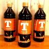 Liten fästemansgåva 3''' i rött glas med opalvit glas (äldre) - Tillval: 1 liter rekommenderad T-lampolja från Kemetyl