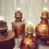 Bordslampa Dragsö 10''' i koppar (äldre)