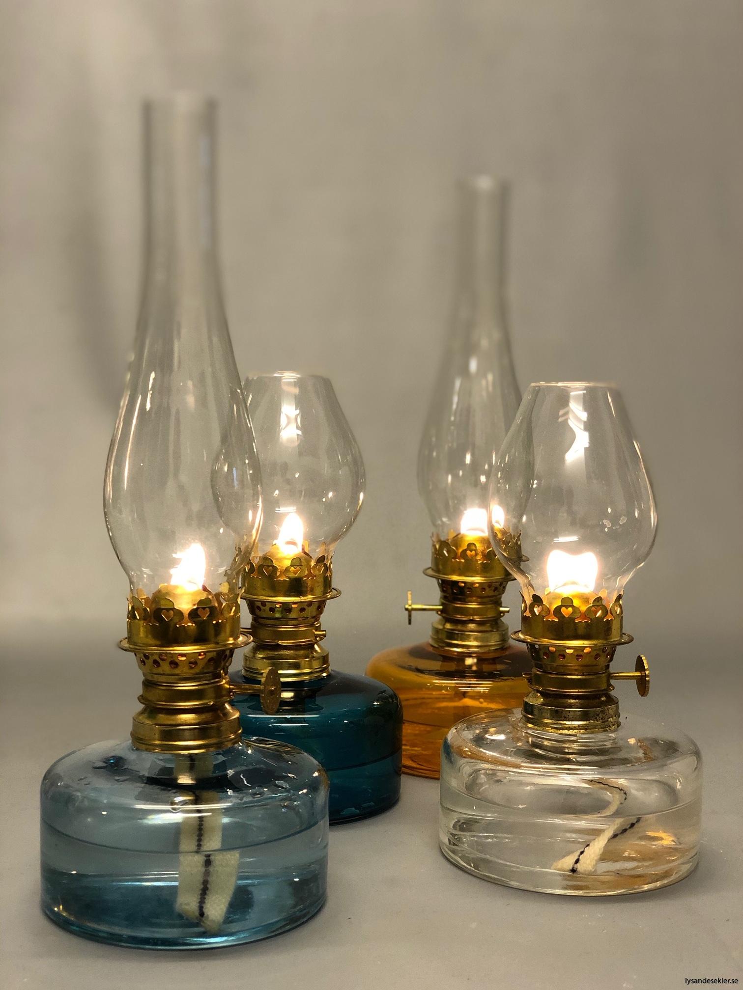 fotogenlampor från Lysande Seklers lampverkstad