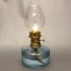 Simris Bylampa 5''' ljusblå - Lysande Sekler - Lilla Simris Bylampa - blank mässing med ljusblått oljehus