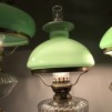 Klassisk fotogenlampa 10''' med kragskärm i celadon (äldre)