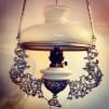 Vestaskärm opal - 185 mm (Skärm till fotogenlampa)
