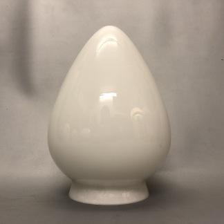 Opalvit droppformad kupa 80 mm krage - Opalvit 80 mm kupa i droppform