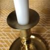 Ljusmanschett mässing rund matt