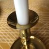 Ljusmanschett mässing rund blank