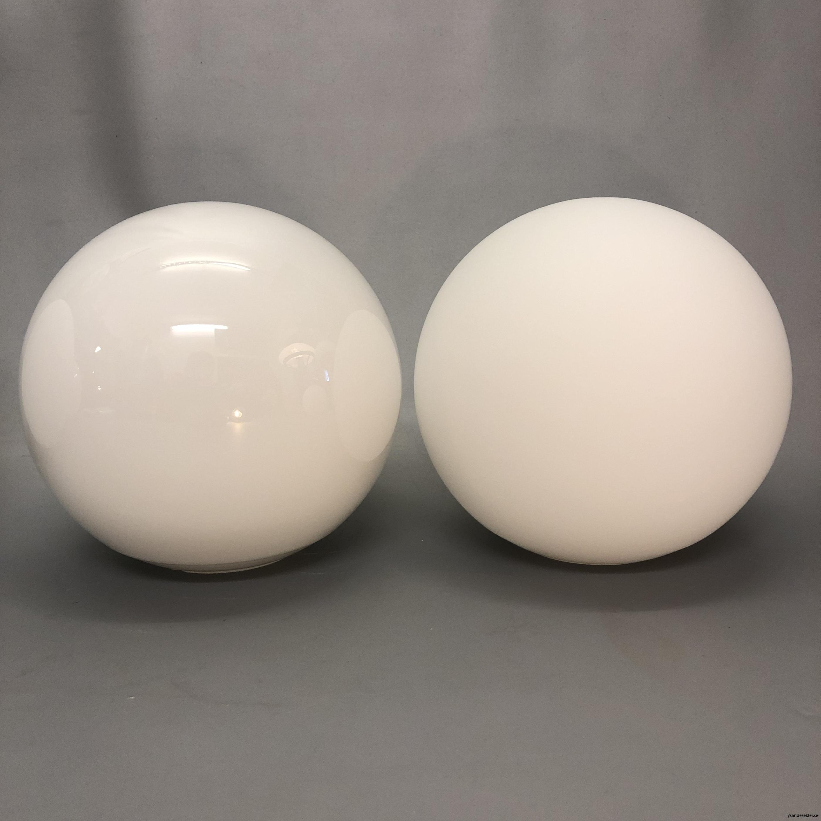 klot glas lampklot lampglas klotglas matt blankt vitt hålkupa hål5