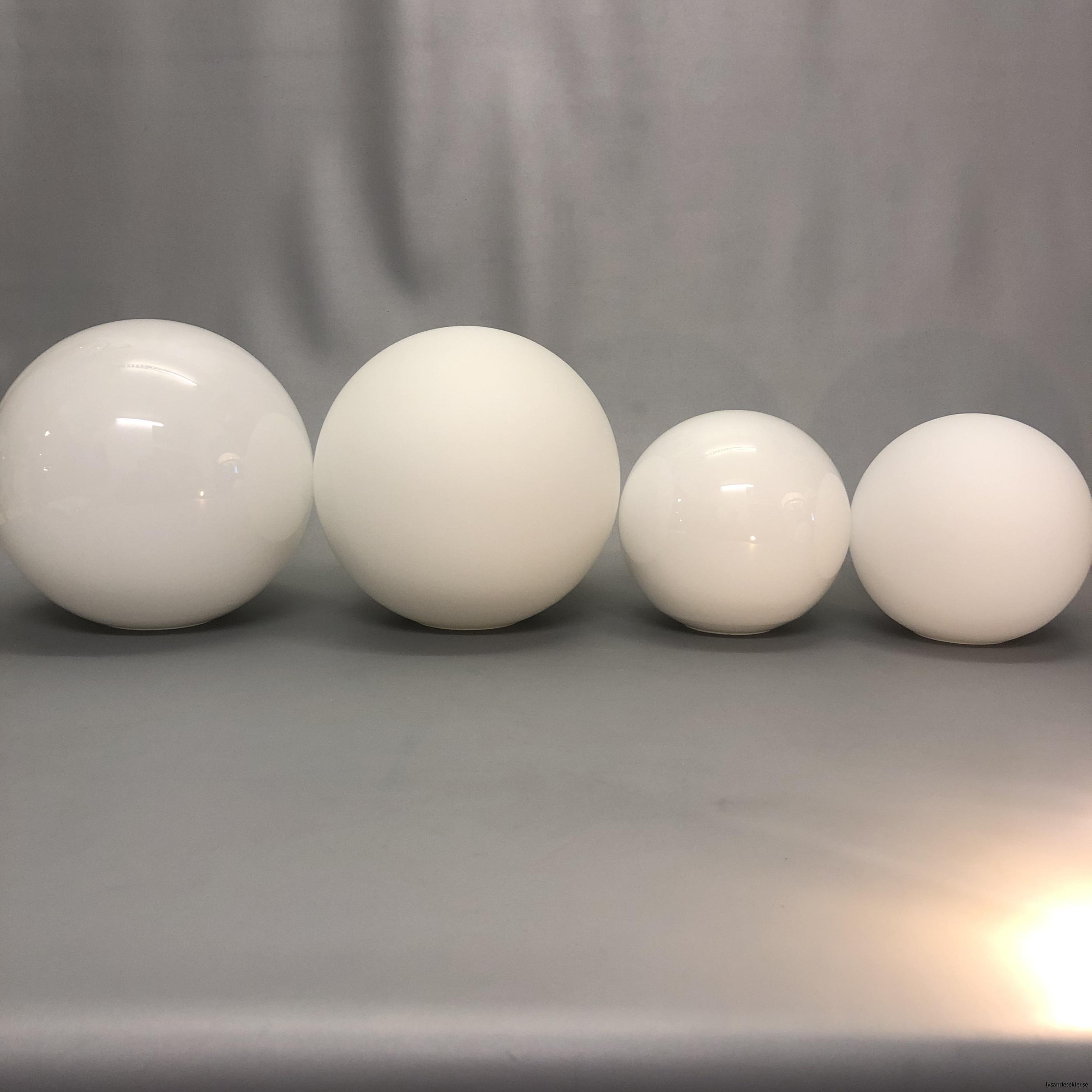 klot glas lampklot lampglas klotglas matt blankt vitt hålkupa hål3