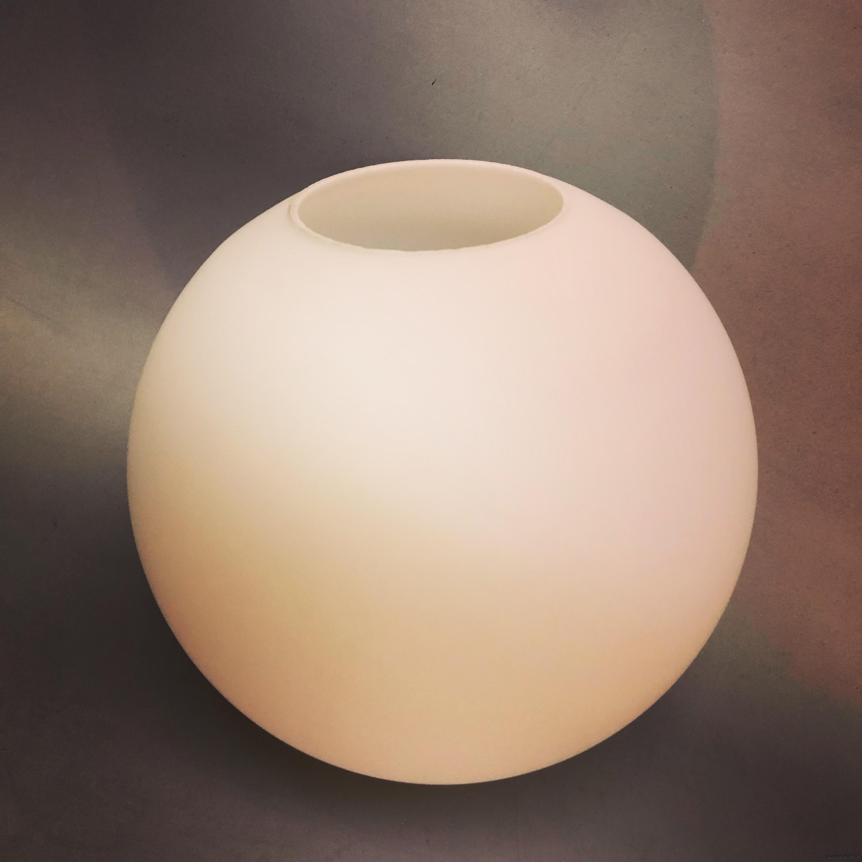 klot glas lampklot lampglas klotglas matt blankt vitt hålkupa hål10