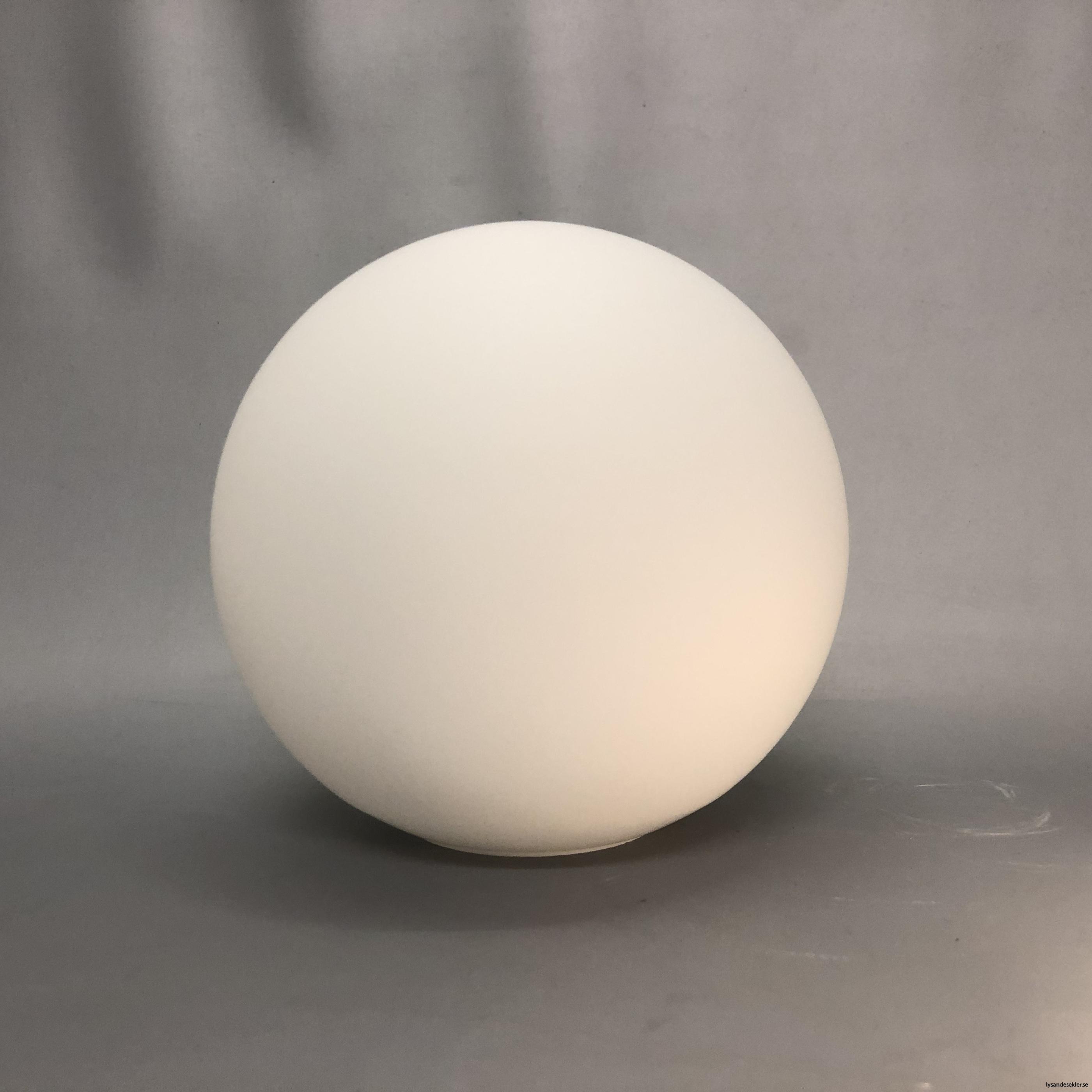 klot glas lampklot lampglas klotglas matt blankt vitt hålkupa hål16