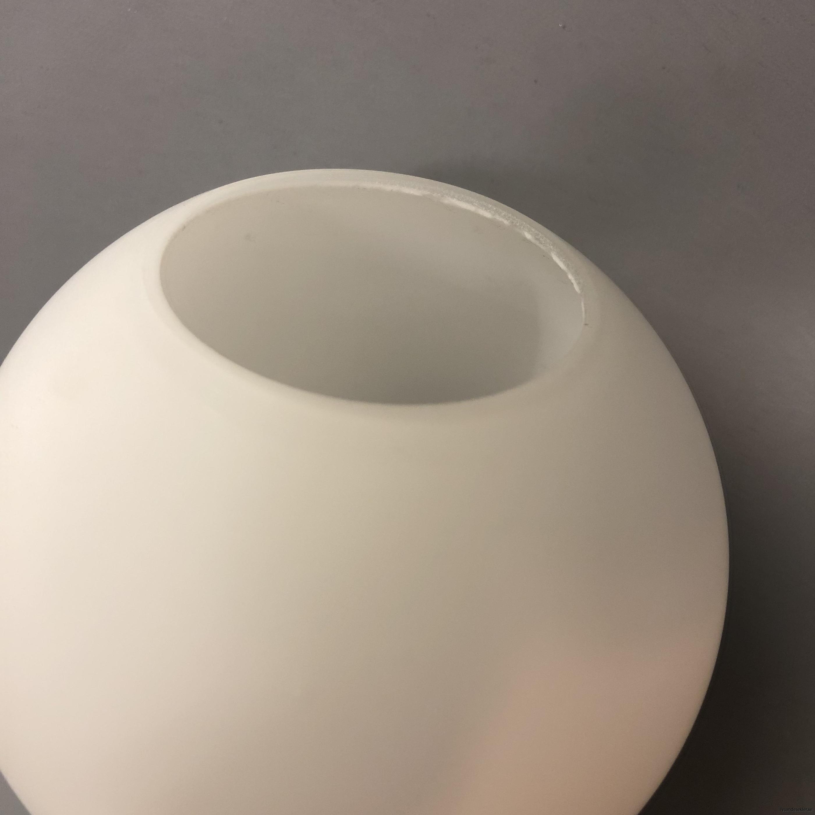 klot glas lampklot lampglas klotglas matt blankt vitt hålkupa hål13