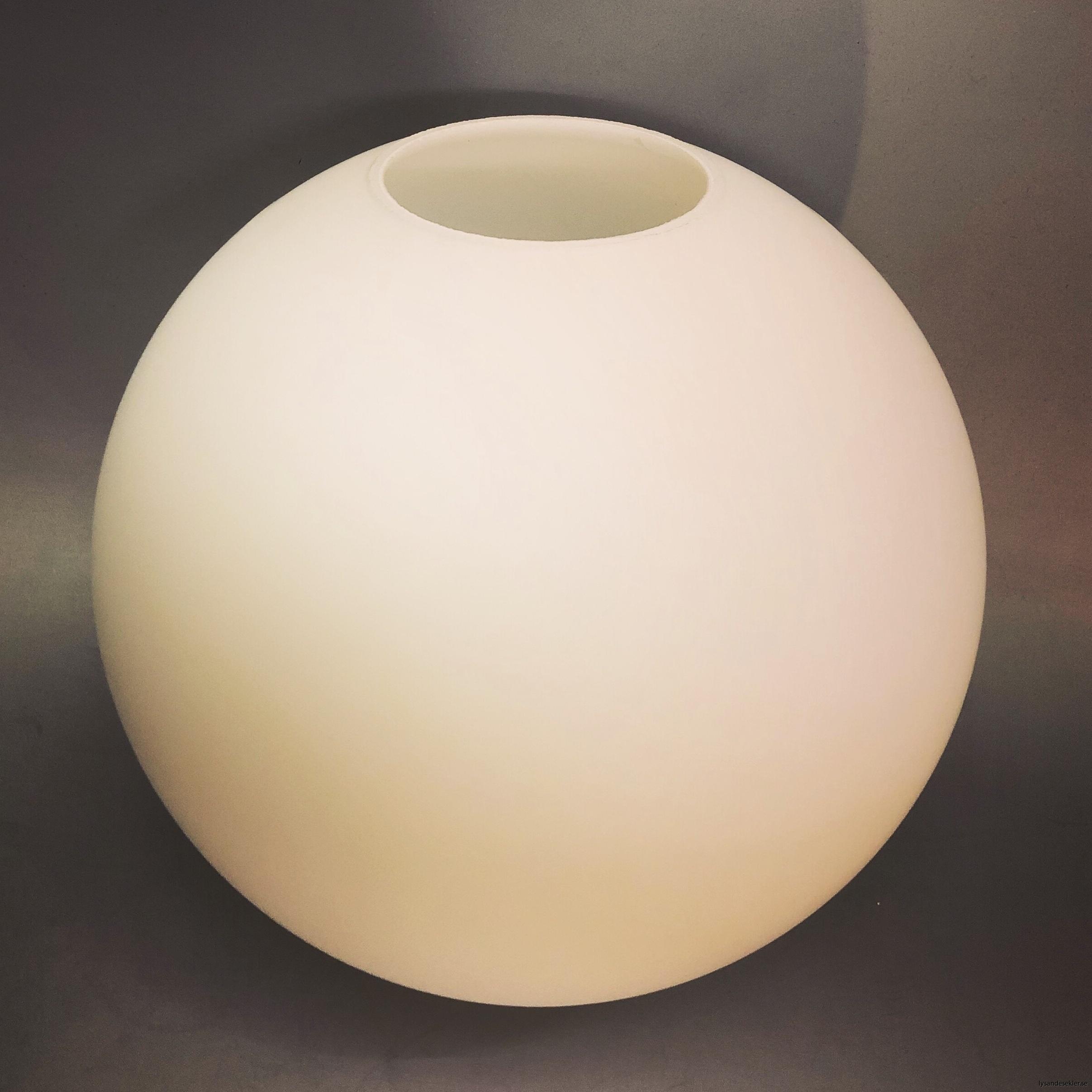 klot glas lampklot lampglas klotglas matt blankt vitt hålkupa hål8