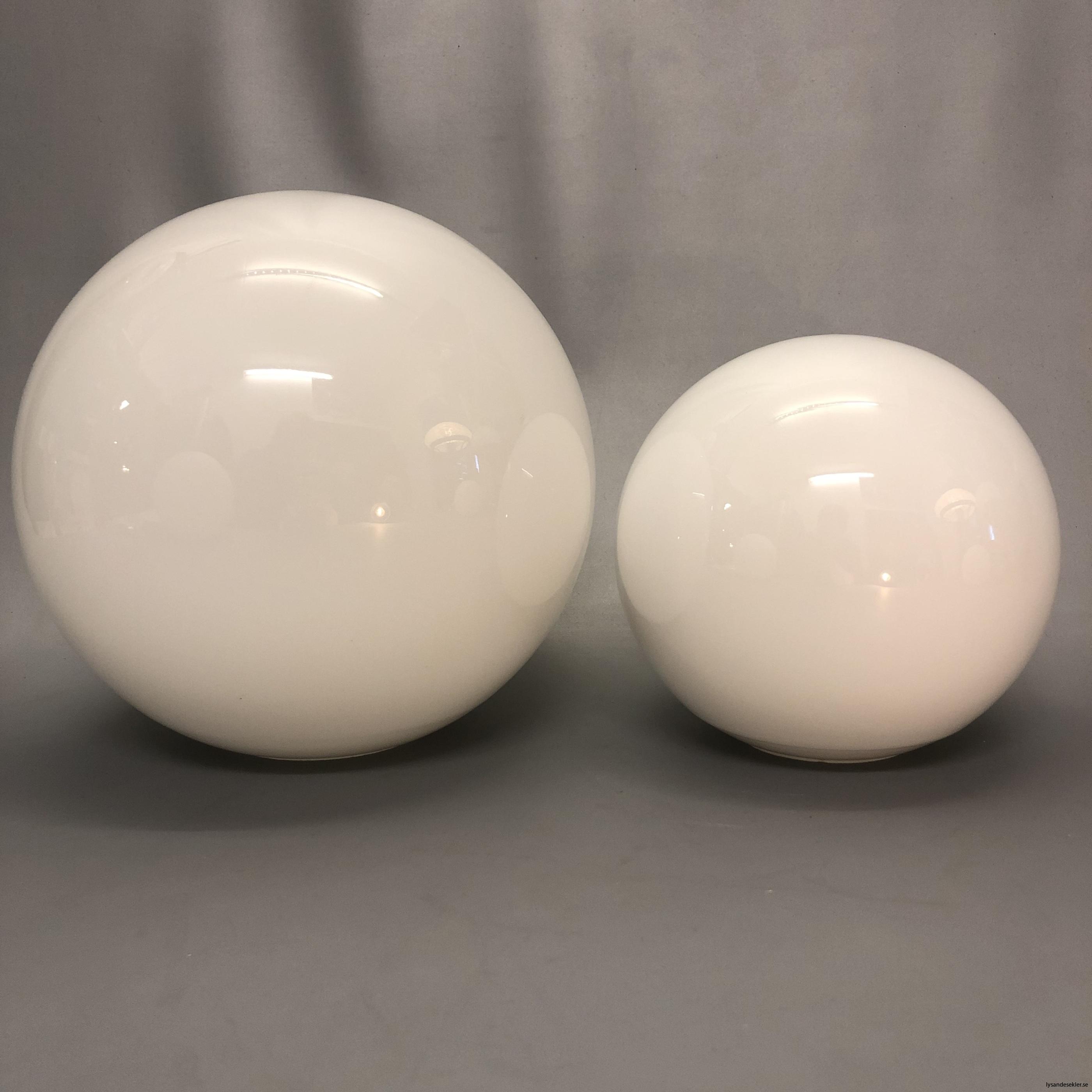 klot glas lampklot lampglas klotglas matt blankt vitt hålkupa hål7