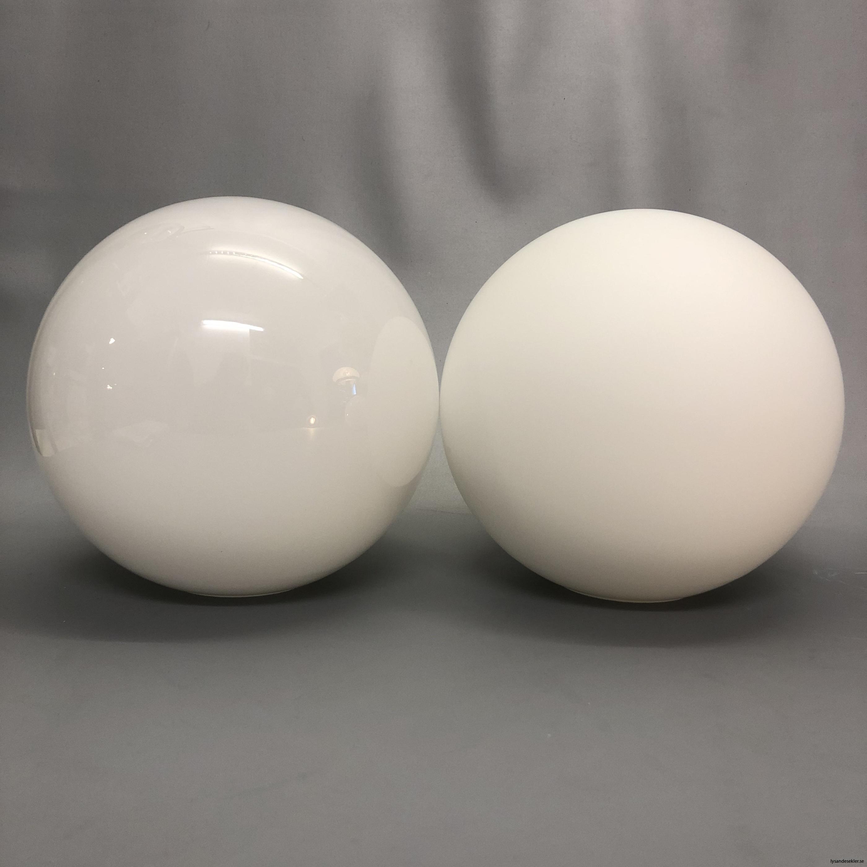 klot glas lampklot lampglas klotglas matt blankt vitt hålkupa hål4