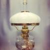 Kraglös vestaskärm - 185 cm opal (Skärm till fotogenlampa)