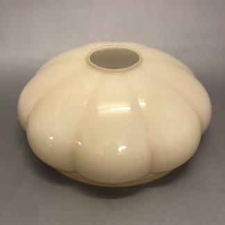 Kraglös vestaskärm - 185 cm vanilj (Skärm till fotogenlampa) - Vaniljfärgad parasollformad tallriksskärm med hål