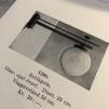 Opalvit droppformad kupa 80 mm krage
