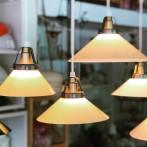 15, 20 och 25 cm - Gula skomakarlampor