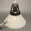 15, 20 och 25 cm - Vita skomakarlampor - Vit skomakarskärm 15 cm + 130 cm sladdupphäng med klippt sladd (för tak)