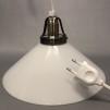 15, 20 och 25 cm - Vita skomakarlampor - Vit skomakarskärm 25 cm + 390 cm sladdupphäng med väggkontakt