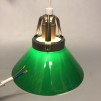 15, 20 och 25 cm - Gröna skomakarlampor - Grön skomakarskärm 15 cm + 130 cm sladdupphäng med klippt sladd (för tak)