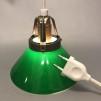 15, 20 och 25 cm - Gröna skomakarlampor - Grön skomakarskärm 15 cm + 390 cm sladdupphäng med väggkontakt