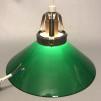15, 20 och 25 cm - Gröna skomakarlampor - Grön skomakarskärm 20 cm + 130 cm sladdupphäng med klippt sladd (för tak)