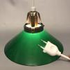 15, 20 och 25 cm - Gröna skomakarlampor - Grön skomakarskärm 20 cm + 390 cm sladdupphäng med väggkontakt