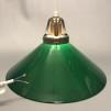 15, 20 och 25 cm - Gröna skomakarlampor - Grön skomakarskärm 25 cm + 130 cm sladdupphäng med klippt sladd (för tak)